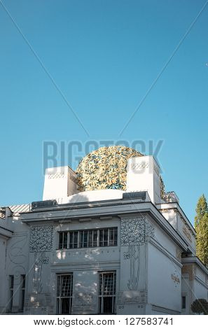 VIENNA, AUSTRIA-April 20 : Vienna Secession Building was formed in 1897 by a group of Austrian artists. Vienna Secession on April 20, 2016.Vienna, Austria