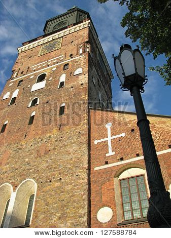Turku Cathedral - the Mother Church of the Evangelican Lutheran Church of Finland origin from the 13th century.