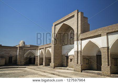Pahlavon Mahmud Mausoleum complex in Khiva, Uzbekistan poster