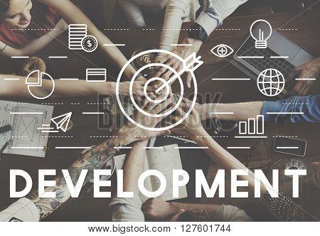 Bull's Eye Goal Mission Icon Development Concept