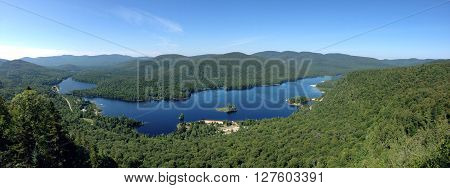 picture taken from above Lac Monroe in National Park of Mont Tremblant,Quebec,Canada.