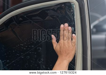 Car window tinting series : Positioning window film