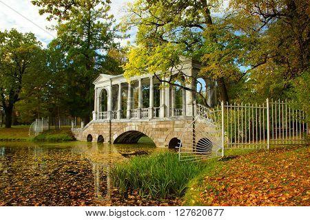Siberian bridge in the Catherine Park in Tsarskoye Selo