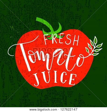 Hand Sketched Tomato Lettering Typography