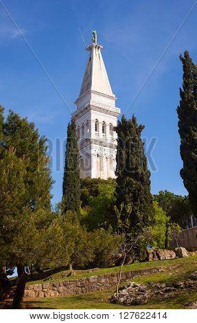 View of Saint Euphemia's basilica in Rovinj Istria - Croatia