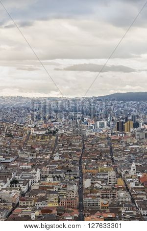 Quito Aerial View From Panecillo Viewpoint