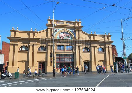 MELBOURNE AUSTRALIA - APRIL 24, 2016: Unidentified people vist Queen Victoria Market in Melbourne. Queen Victoria Market is the largest open air market in the Southern Hemisphere.