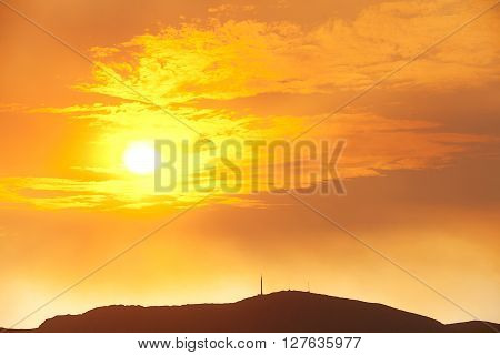 Sunset Over Mount Wellington