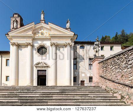 Church of the Madonna del Carmine Marostica Italy.