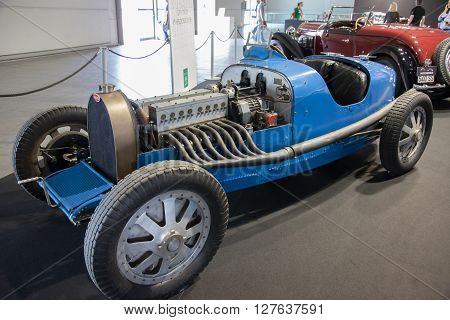 Verona, Italy - May 9, 2015: The municipality of Verona organizes a free gathering of sports and antique cars in Verona. Are exposed the most beautiful cars in the world.