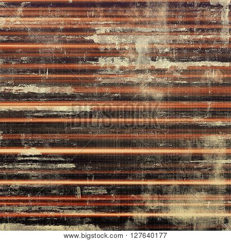 Vintage elegant background, creased grunge backdrop with aged texture and different color patterns: yellow (beige); brown; gray; red (orange); black