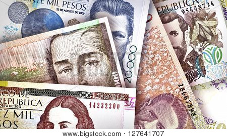 Colombian Peso Background