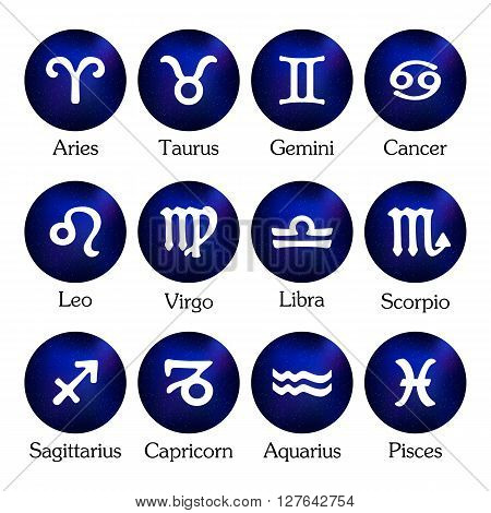 Zodiac Design. Horoscope Set. Icons.