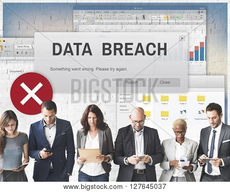 Data Breach Security Confidential Cyber crime Concept