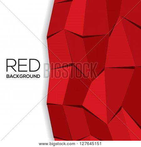 Red Modern Graphic Background With White Space.