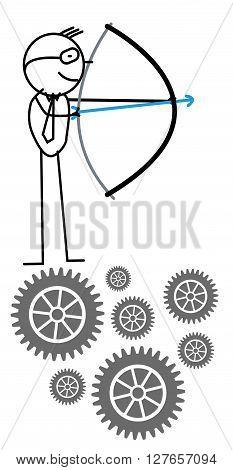 Businessman arrow .eps10 editable vector illustration design