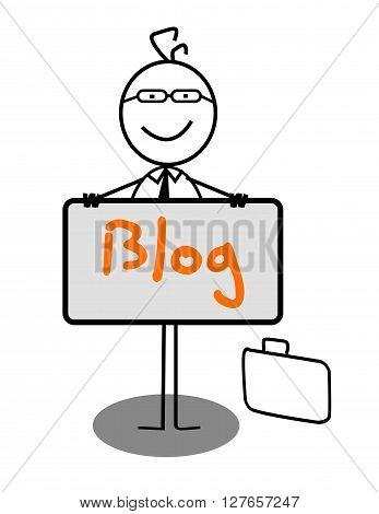 Businessman blog Banner .eps10 editable vector illustration design