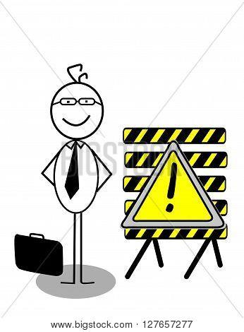 Businessman UnderConstruction .eps10 editable vector illustration design