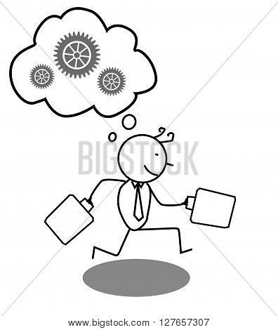 Businessman run for progrees .eps10 editable vector illustration design