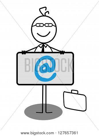 Businessman Online Banner .eps10 editable vector illustration design