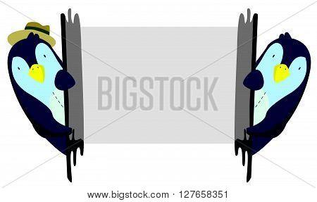 Penguin illustration .eps10 editable vector illustration design