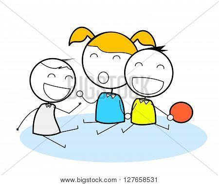 Kids Club .eps10 editable vector illustration design