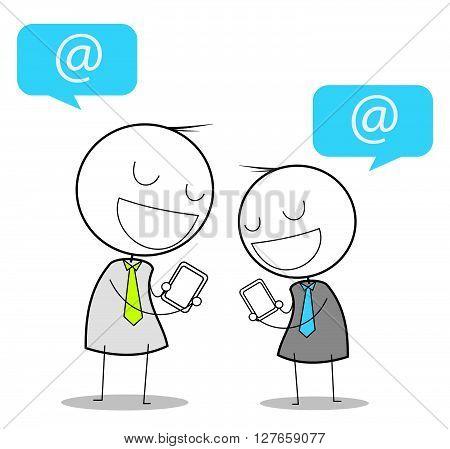 Businessman social media .eps10 editable vector illustration design