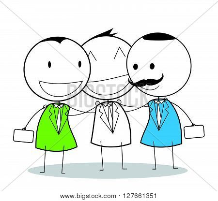 Business mediation .eps10 editable vector illustration design