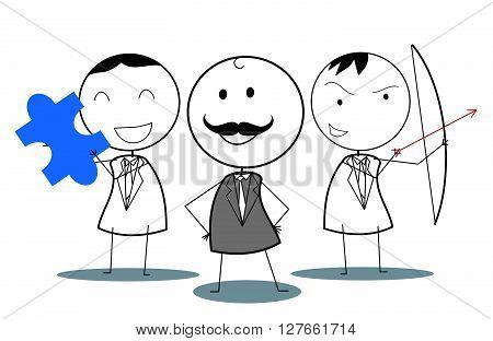 Business teamwork .eps10 editable vector illustration design