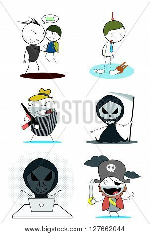 Bandit Group .eps10 editable vector illustration design