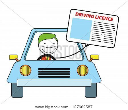 Driving licence .eps10 editable vector illustration design