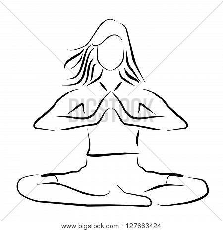 Vector illustration yoga player symbol .eps10 editable vector illustration design