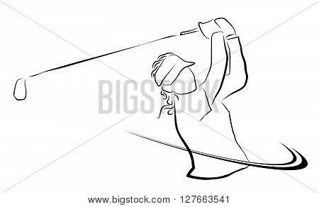 Golf Illustration .eps10 editable vector illustration design