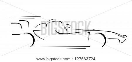 Formula Car Symbol .eps10 editable vector illustration design