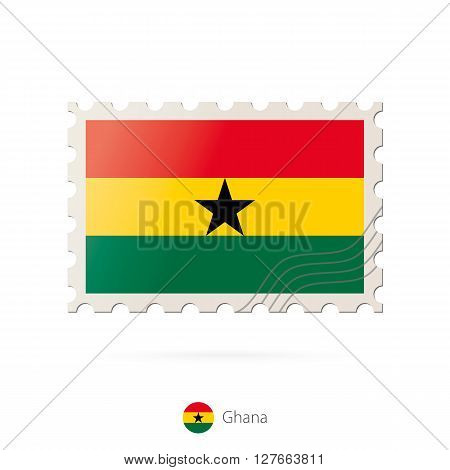 Postage Stamp With The Image Of Ghana Flag.