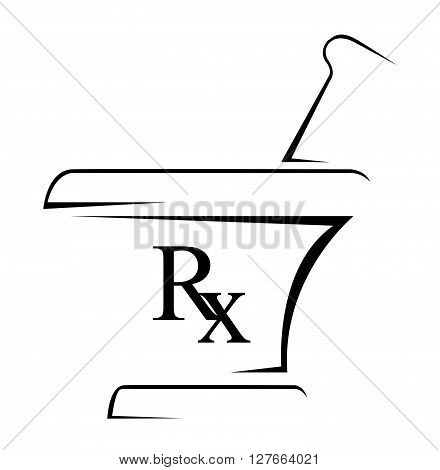 Medical Rx Simple Symbol .eps10 editable vector illustration design