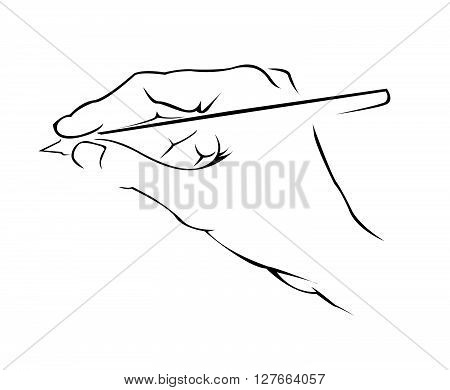 Hand Writing Simple Symbol .eps10 editable vector illustration design