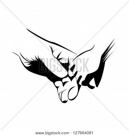 Unity Hand .eps10 editable vector illustration design