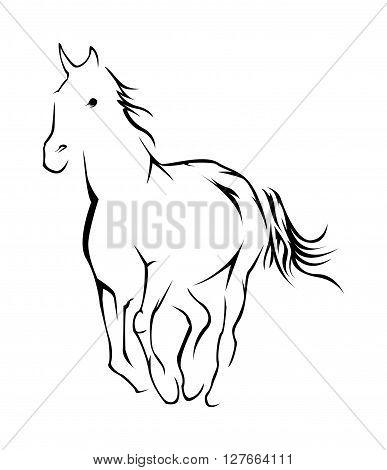 Horse Symbol Vector Illustration .eps10 editable vector illustration design