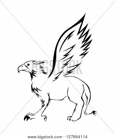 Griffin Illustrator .eps10 editable vector illustration design