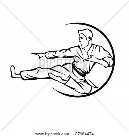 Martial Art .eps10 editable vector illustration design