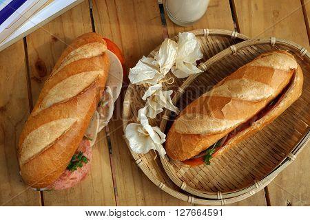 Vietnamese Food, Banh Mi, Fast Food For Breakfast