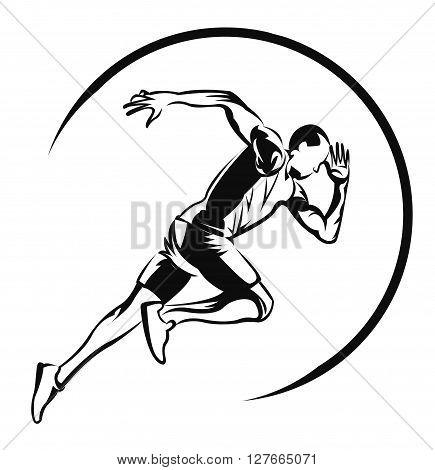 Runner symbol .eps10 editable vector illustration design