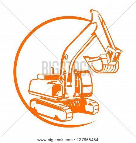 Excavator illustration .eps10 editable vector illustration design