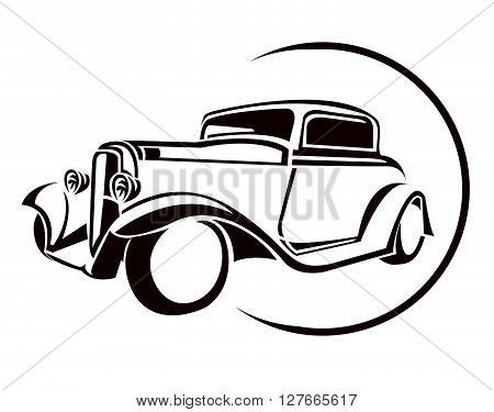 Old Car Symbol.eps10 editable vector illustration design