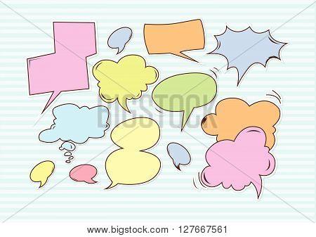 Buble speech .eps10 editable vector illustration design