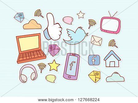 Social Media .eps10 editable vector illustration design