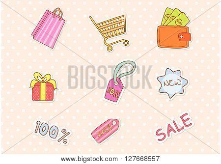 Fashion Shopping Accesories.eps10 editable vector illustration design