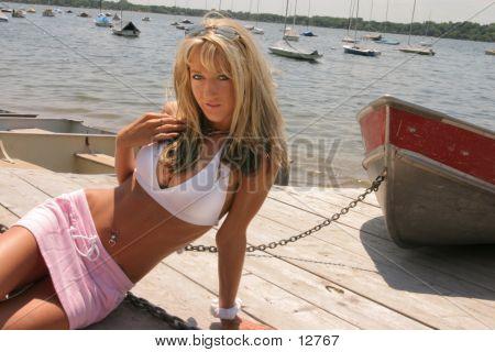 Girl By Boat