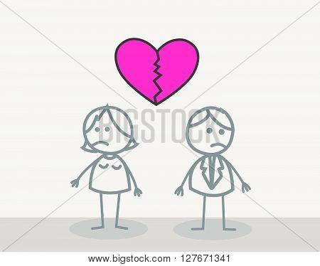 Heart Break .eps10 editable vector illustration design
